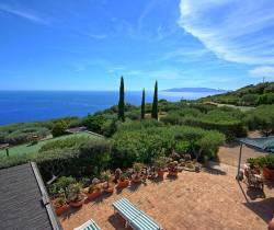 Sicht von Villa Luna